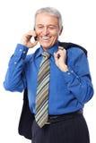Am Telefon Stockfotos