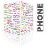 TELEFON. stock illustrationer