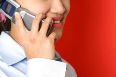 Am Telefon Lizenzfreie Stockfotos