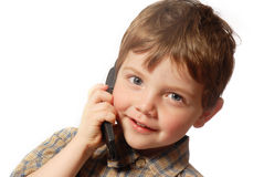 Am Telefon Lizenzfreie Stockbilder