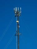Telefon antena na niebieskim niebie Obraz Stock