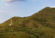 Telefon antena przy dnem góry Podłączeniowy pomysłu pojęcie fotografia stock