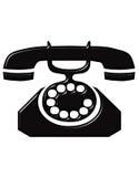 telefon antyk ilustracji