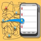 Telefon app Arkivbilder