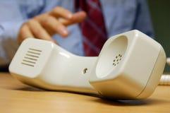 Telefon auf Einfluss Stockfotos