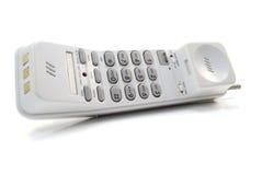 Telefon auf Weiß Stockfotos