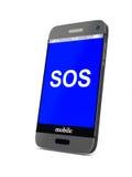 Telefon auf weißem Hintergrund Getrenntes 3D Stockfoto