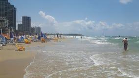 Telefon Aviv Beach arkivbild