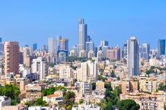 Telefon Aviv Skyscrapers, Israel Arkivbilder