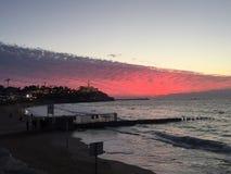 Telefon Aviv Sunset Royaltyfria Bilder