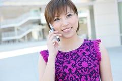 telefon azjatykcia biznesowa kobieta Zdjęcie Stock