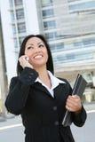 telefon azjatykcia biznesowa kobieta Obraz Stock