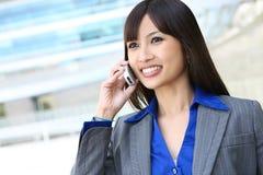 telefon azjatykcia biznesowa kobieta Obrazy Stock