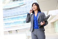 telefon azjatykcia biznesowa kobieta Fotografia Stock