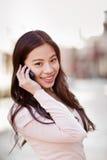 telefon azjatykcia kobieta Zdjęcia Stock
