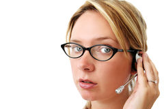 Telefon-Bediener Lizenzfreies Stockbild