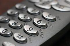 Telefon befestigt Nahaufnahme stockbild
