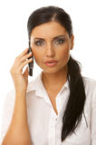 telefon biznesowa kobieta Fotografia Stock