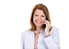 telefon biznesowej kobieta fotografia stock