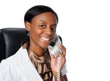 telefon bizneswomanu young Obraz Royalty Free