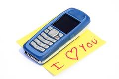telefon cię kocham zdjęcie stock