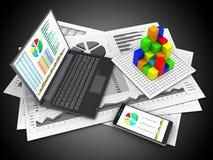Telefon 3D Lizenzfreie Stockfotos