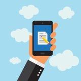Telefon, das eMail im digitalen Format sendet Stockbilder
