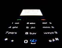 Telefon in der Dunkelheit Lizenzfreie Stockfotos