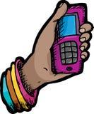 Telefon in der Hand Lizenzfreies Stockfoto