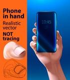 Telefon in der Hand Lizenzfreies Stockbild
