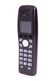 Telefon der schwarzen Farbe, digital, drahtlos, getrennt Lizenzfreie Stockbilder