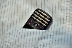 Telefon in der Tasche Stockfotos