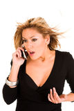 telefon do kobiet Fotografia Stock