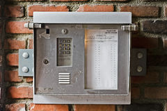 Telefon-Eintrag stockbild