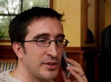 telefon för 2 konversation Arkivfoton