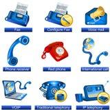 telefon för 3 symboler royaltyfri illustrationer