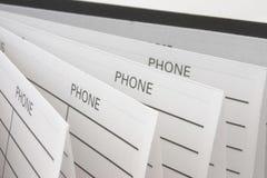 telefon för adressbok Arkivbild
