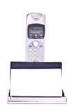 telefon för affärskort Royaltyfria Foton