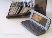 telefon för affärskort Royaltyfria Bilder