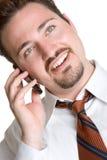 telefon för affärsman royaltyfria foton