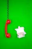 telefon för gröna pengar Royaltyfri Fotografi