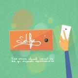 Telefon för håll för handSelfie foto färgrik smart Arkivbilder