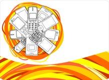 telefon för höstcdrcell stock illustrationer