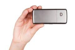 telefon för handholdingmobil Royaltyfri Fotografi