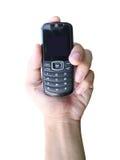 telefon för handholdingmobil royaltyfria foton