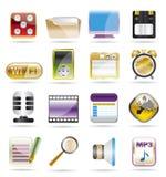 telefon för kapacitet för symbolsinternetkontor vektor illustrationer