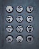 telefon för knappgrungemetall Royaltyfri Foto