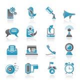 telefon för kommunikationssymbolsmobil vektor illustrationer