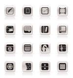 telefon för kontor för affärssymboler enkel mobil vektor illustrationer