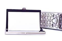 telefon för korthållare Arkivfoto